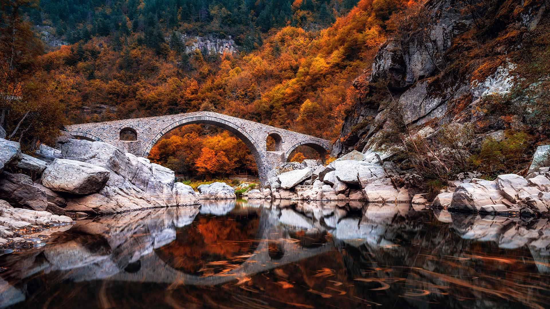 Dyavolski most (Devil's Bridge), Arda river, Bulgaria (© Petar Mladenov/Alamy)