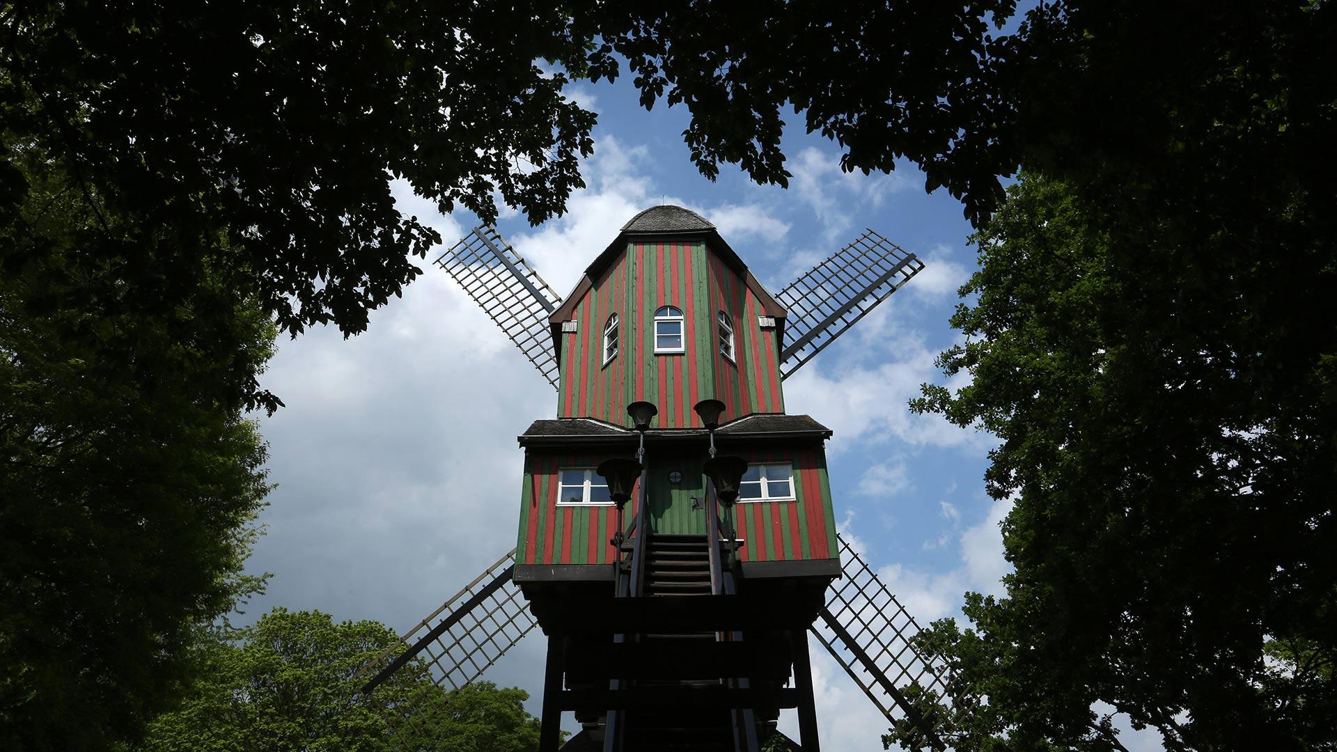 Narrenwindmühle (Fool's Mill) windmill, Dülken, Germany (© dpa picture alliance/Alamy)