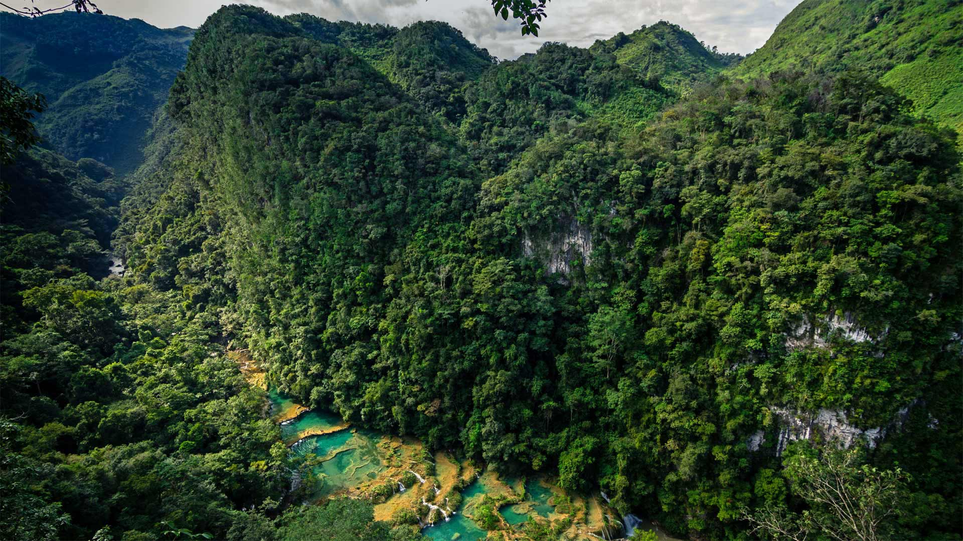 Semuc Champey, a nature park in Guatemala (© Joel Sharpe/Getty Images)